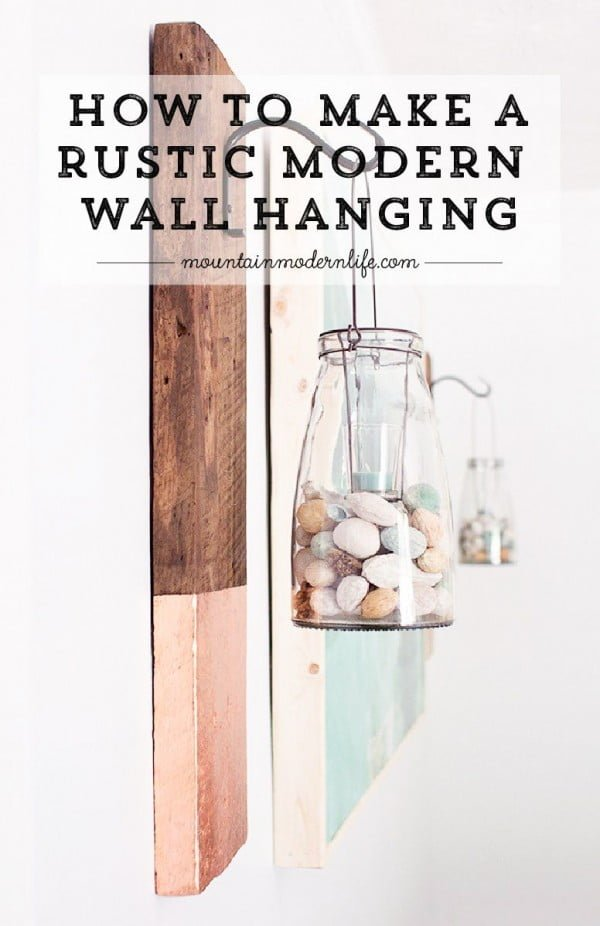 Check out this easy idea on how to make a #DIY #rustic wall hanging #DIYHomeDecor #HomeDecorIdeas