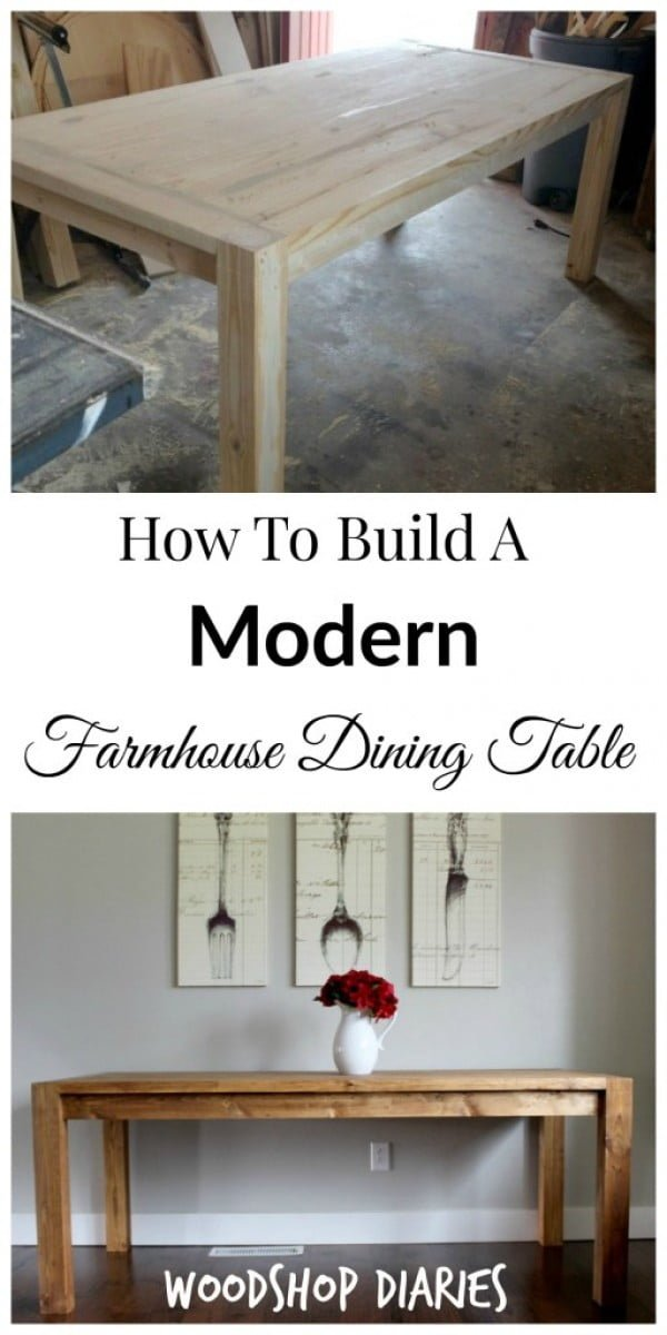 Check out this easy idea on how to build a #DIY modern #farmhouse dining table #wood #crafts #homedecor
