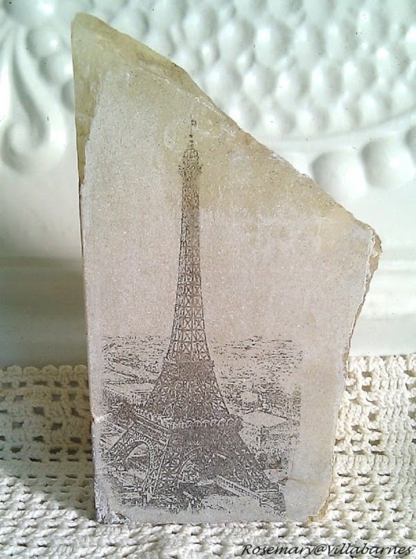 Transfer Images to Rocks to Make and Sell #DIY #homedecor