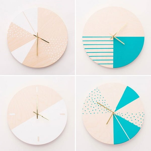 Modern Wooden Wall Clock to Make and Sell