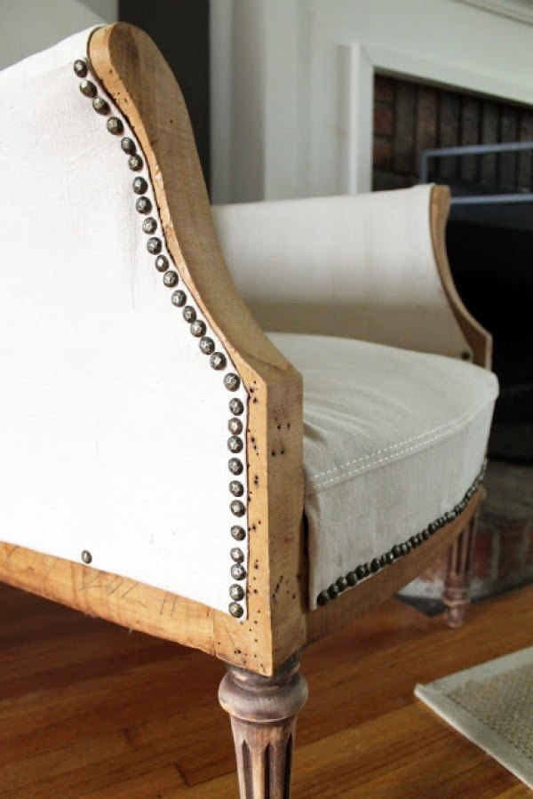 Those tacks! Love it! You can make over an chair like this for a