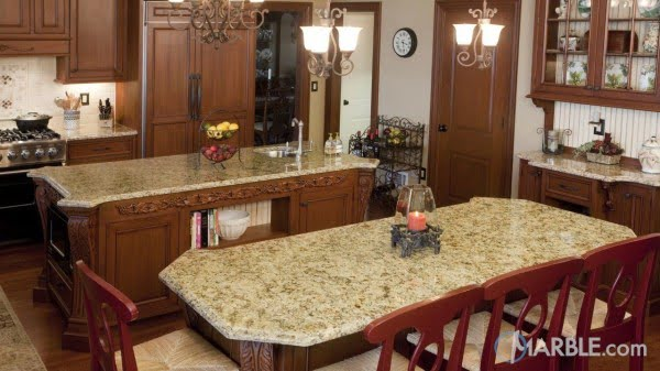 Santa Cecelia color  countertops are so classy! Awesome  decor