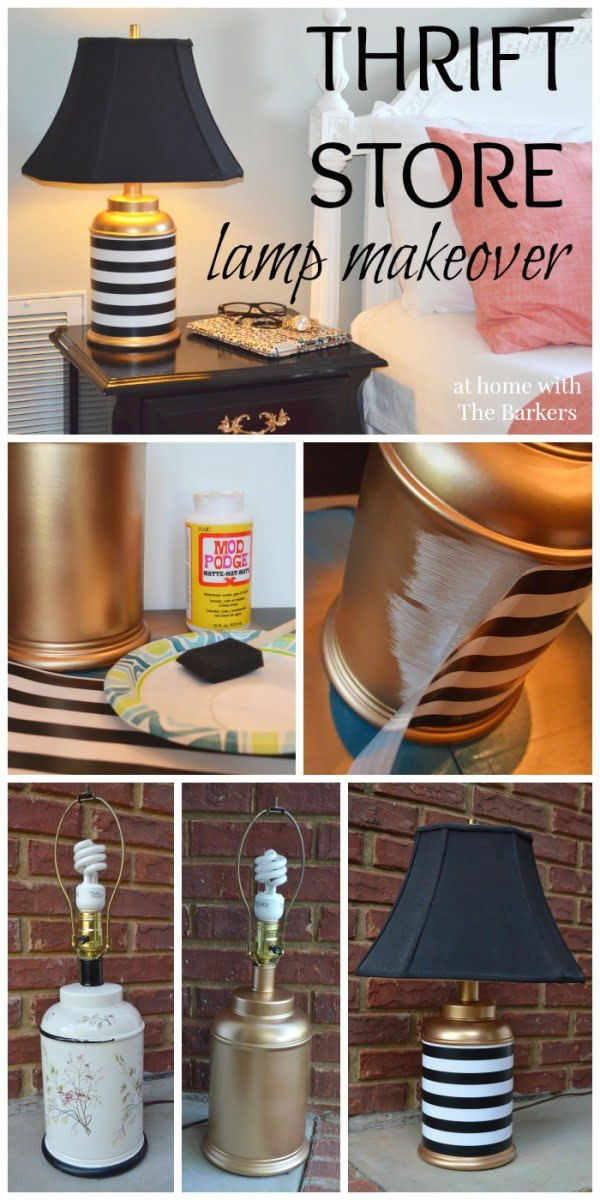 Check out this easy idea on how to make a #DIY thrift store lamp makeover for #homedecor on a #budget #crafts #project