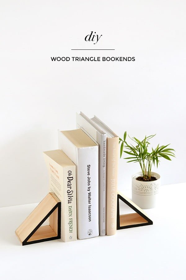 Check out this easy idea on how to make #DIY bookend triangles for #minimalist #homedecor #crafts #wood