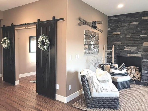 Barn doors make instant  decor. Love it!