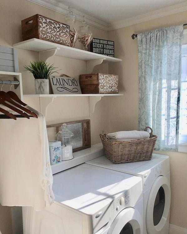 100 Fabulous Laundry Room Decor Ideas You Can Copy - Check out this idea of accent storage boxes for laundry room decor. Love this!