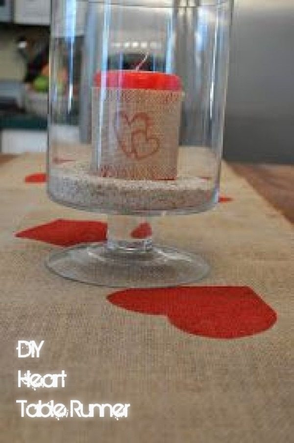 Check out this easy idea on how to make a  heart table runner for