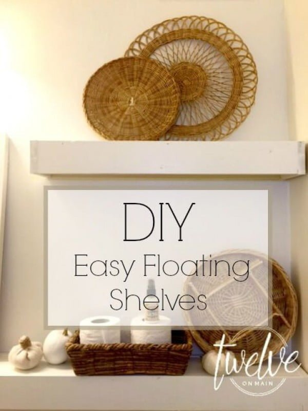 You have to see this tutorial on how to build  easy bathroom floating shelves
