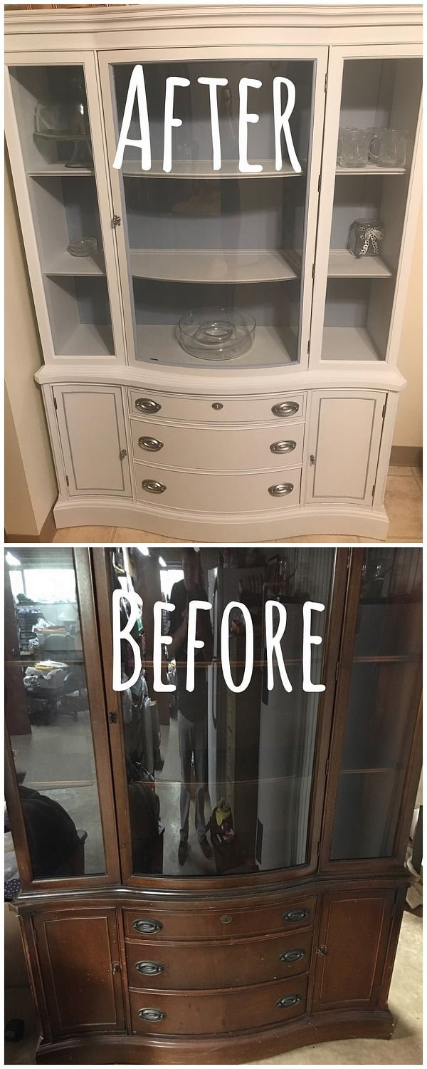 30 Most Impressive DIY Makeovers of Flea Market Finds - Check out this   flip of an old cupboard makeover