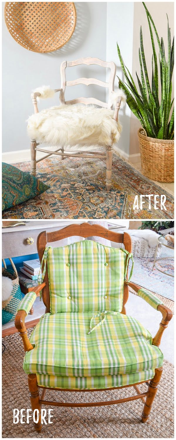 30 Most Impressive DIY Makeovers of Flea Market Finds - Check out this   flip of a furry chair