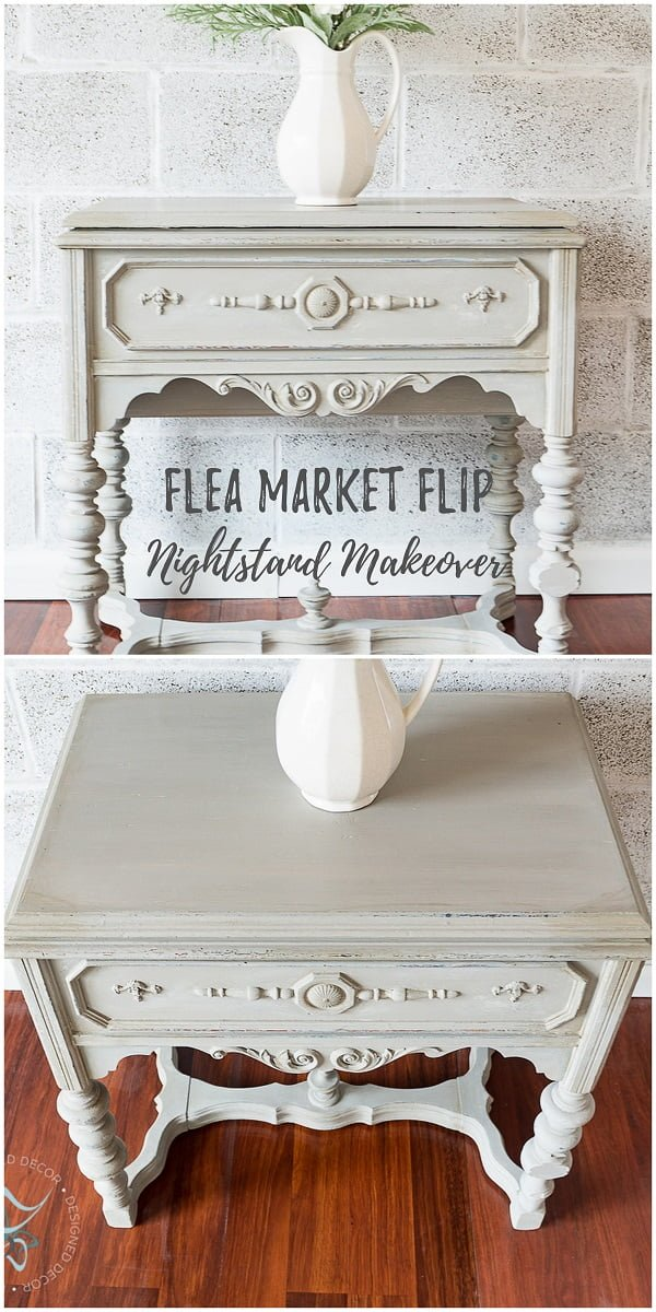 30 Most Impressive DIY Makeovers of Flea Market Finds - Check out this   flip of an old nightstand makeover