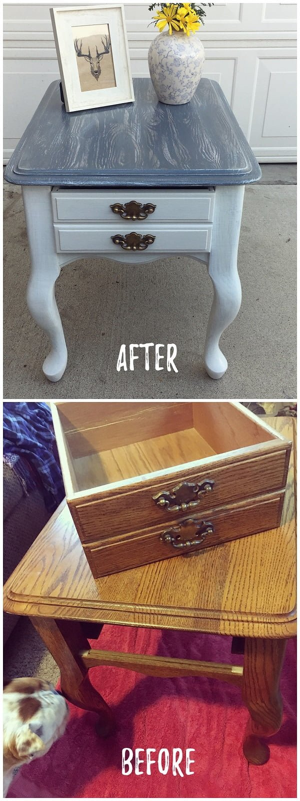 30 Most Impressive DIY Makeovers of Flea Market Finds - Check out this   flip of a nightstand