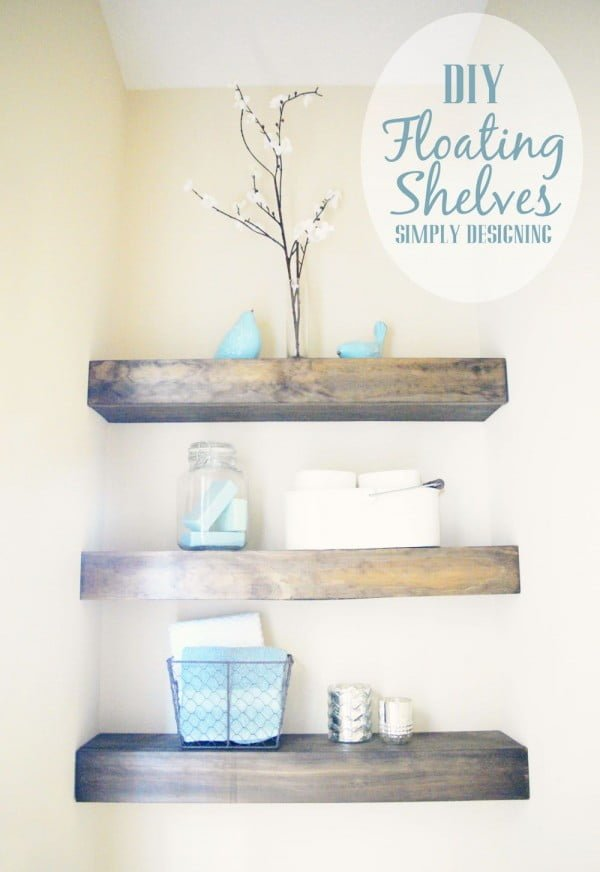 You have to see this tutorial on how to build  easy rustic floating shelves