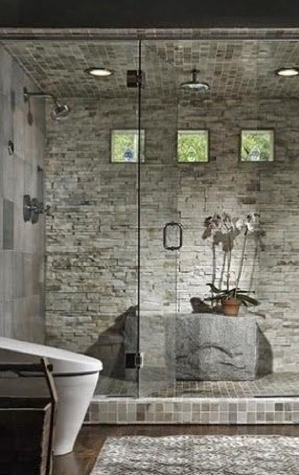 Brick walls work magic in this  decor. Love it!
