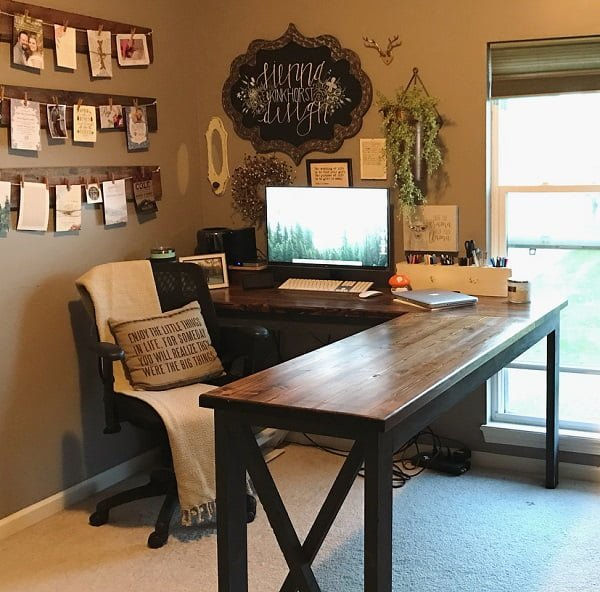 100 Charming Farmhouse Decor Ideas for Your Home Office -