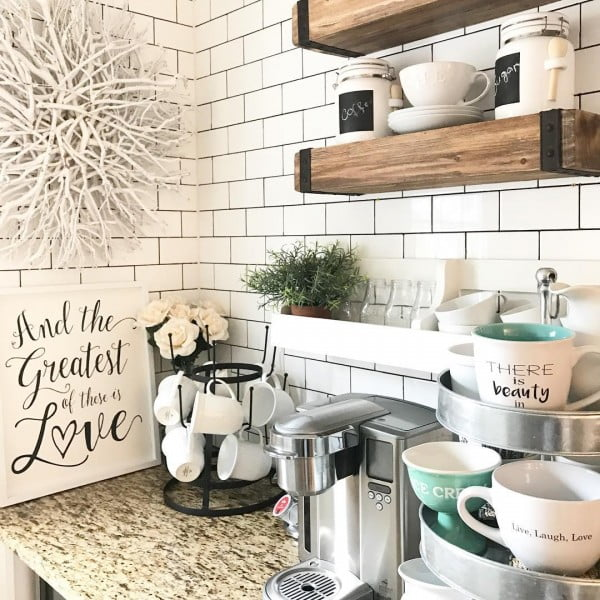 100 Stunning Farmhouse Kitchen Decor Ideas You Have to Try - Check out this   decor idea. Love it!