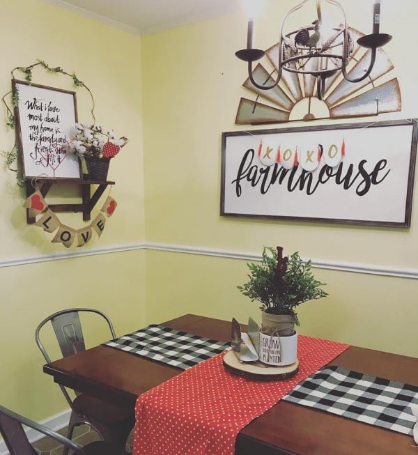 #Farmhouse signs always make brilliant #kitchen decor. Love it! #KitchenDecor #HomeDecorIdeas