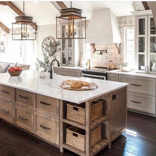 100 Stunning Farmhouse Kitchen Decor Ideas You Have to Try - Love this   decor all the way!