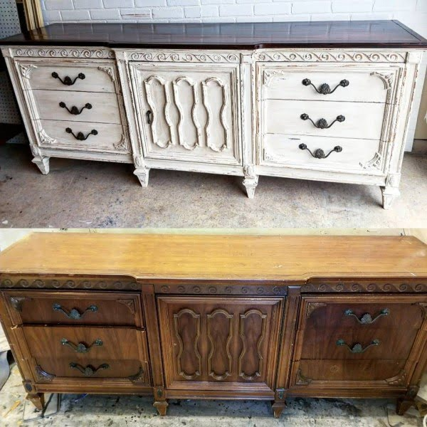 30 Most Impressive DIY Makeovers of Flea Market Finds - Check out this   flip of a vintage French country dresser