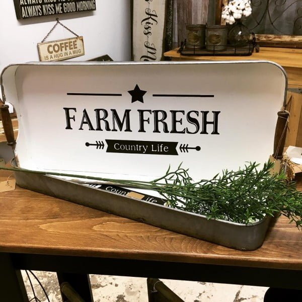 30 Most Impressive DIY Makeovers of Flea Market Finds - Check out this   flip of a  sign made from an old serving tray