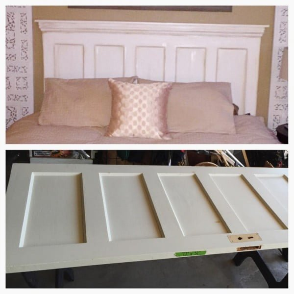 30 Most Impressive DIY Makeovers of Flea Market Finds - Check out this   flip of an old door turned into a headboard