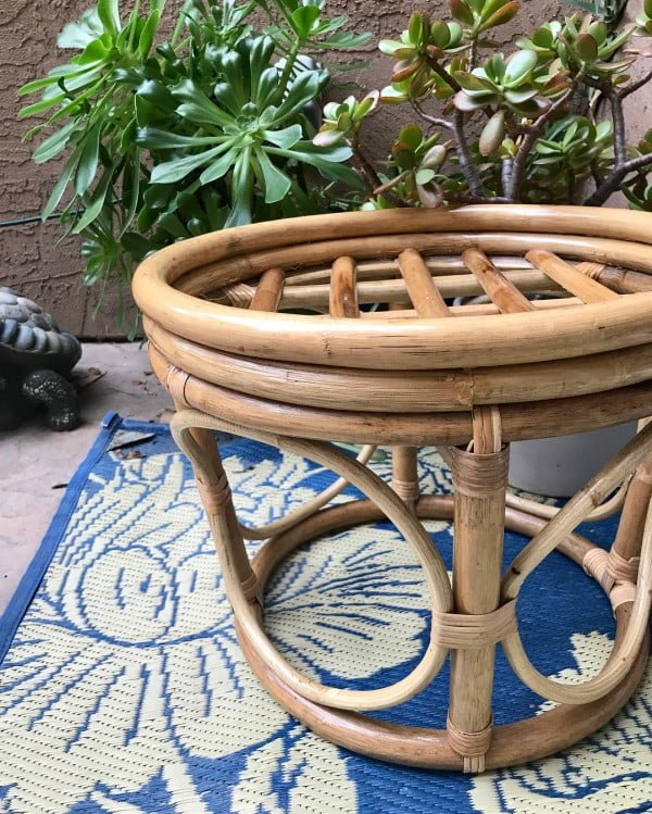 30 Most Impressive DIY Makeovers of Flea Market Finds - Check out this   flip of a bamboo ottoman
