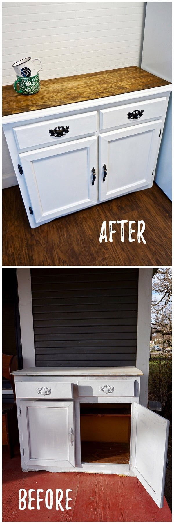 30 Most Impressive DIY Makeovers of Flea Market Finds - Check out this   flip of an old cabinet makeover