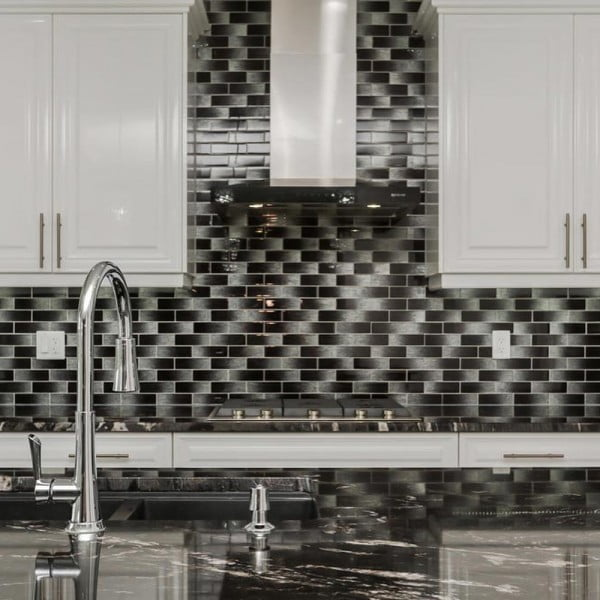 Check out this black and white tile  and the brilliant . Love it!