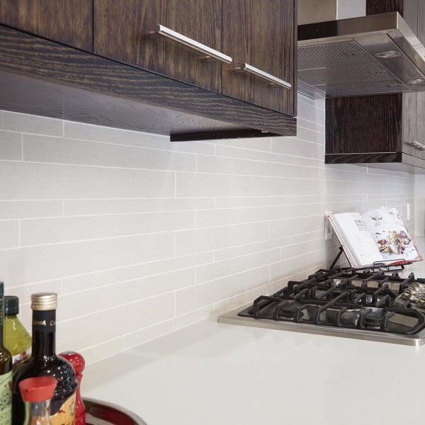Check out this porcelain tile  and the brilliant . Love it!