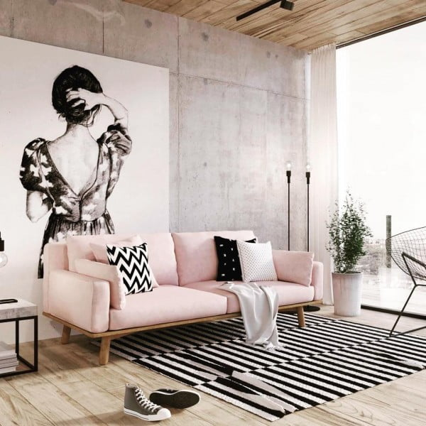 Large-Scale Artwork Living Room Idea
