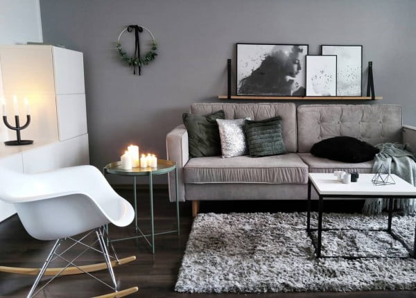 Grey and White Living Room Idea