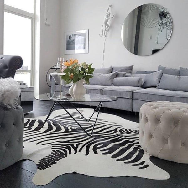 Animal Print Rug Living Room Idea