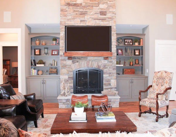 Open Shelving Living Room Idea
