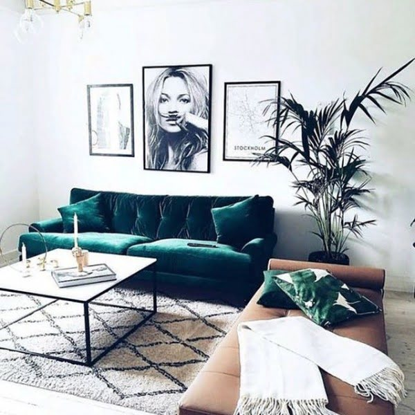 Photographic Art Living Room Idea