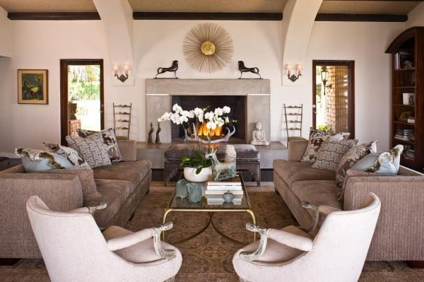 Symmetrical Furniture Placement Living Room Idea