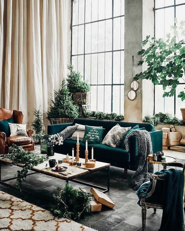 Greenery Living Room Idea