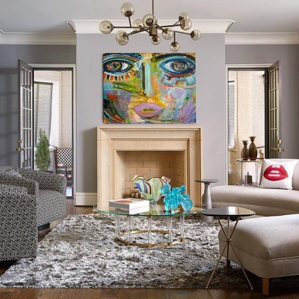Bold Modern Art Living Room Idea