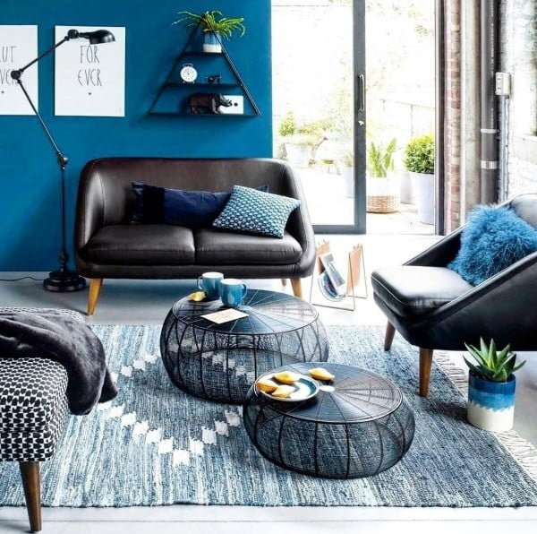 Shades of Blue Living Room Idea
