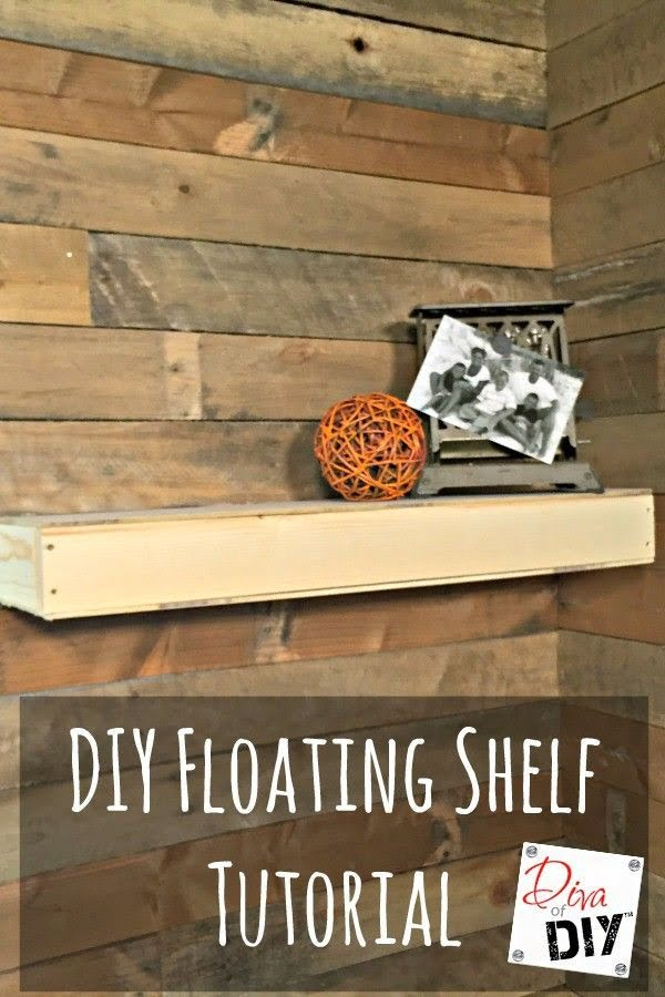 You have to see this tutorial on how to build  rustic floating shelves