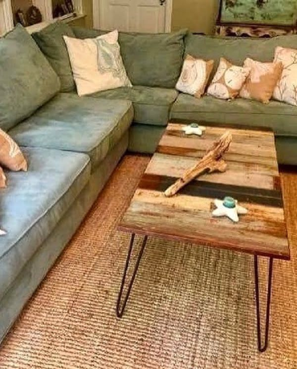 Love this  coffee table and coastal accents!