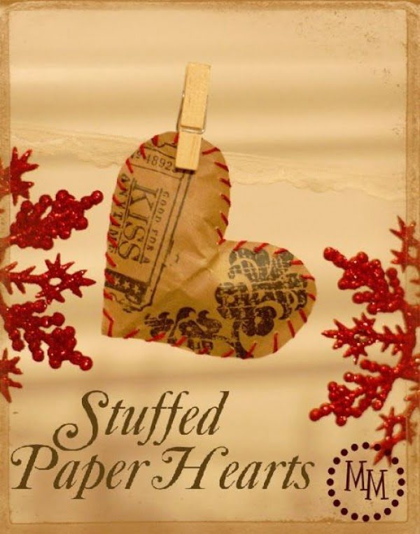 Check out this easy idea on how to make  stuffed paper hearts for