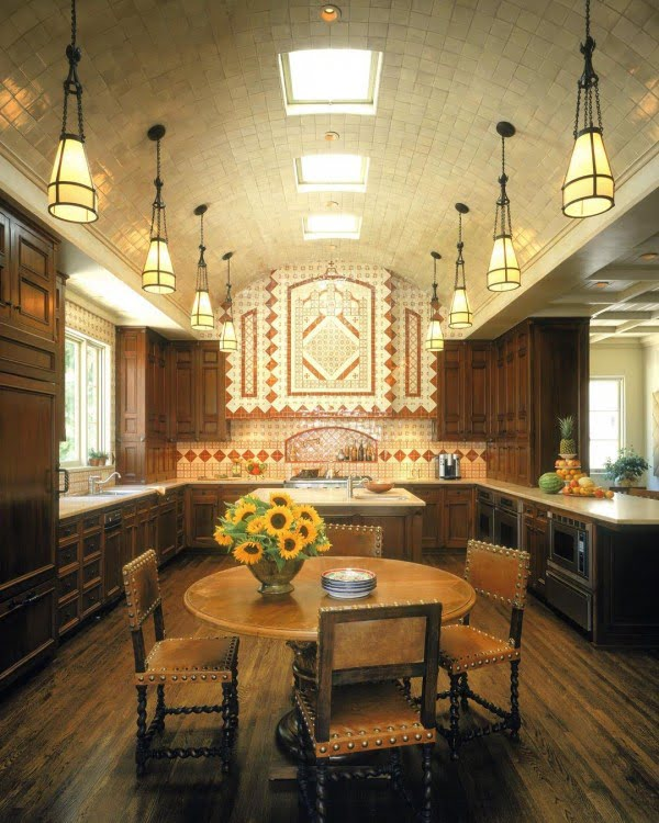 Check out this unusual luxury kitchen design. Love it!