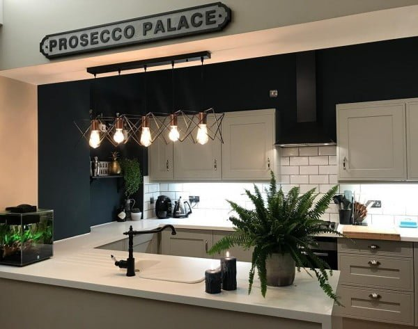 Check out this unusual kitchen design in modern art deco style. Love it! #KitchenDecor #KitchenDesign #HomeDecorIdeas
