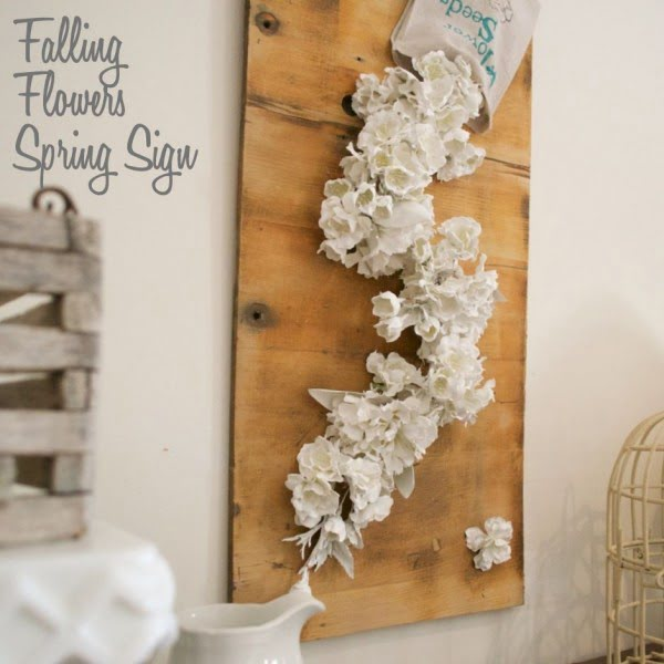 You have to see this tutorial on how to make #DIY falling flowers spring sign #HomeDecorIdeas
