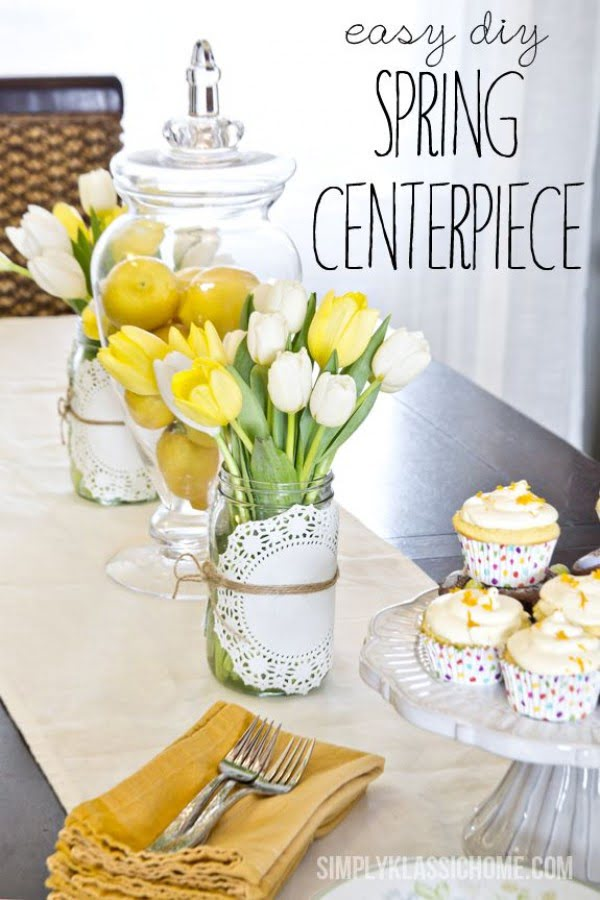 You have to see this tutorial on how to make #DIY spring centerpiece #HomeDecorIdeas