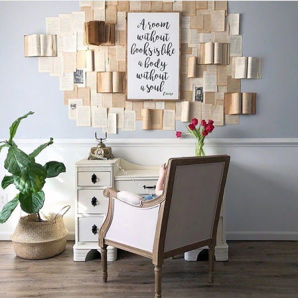 Check out this modern #farmhouse decor idea with #DIY wall art. Love it! #HomeDecorIdeas