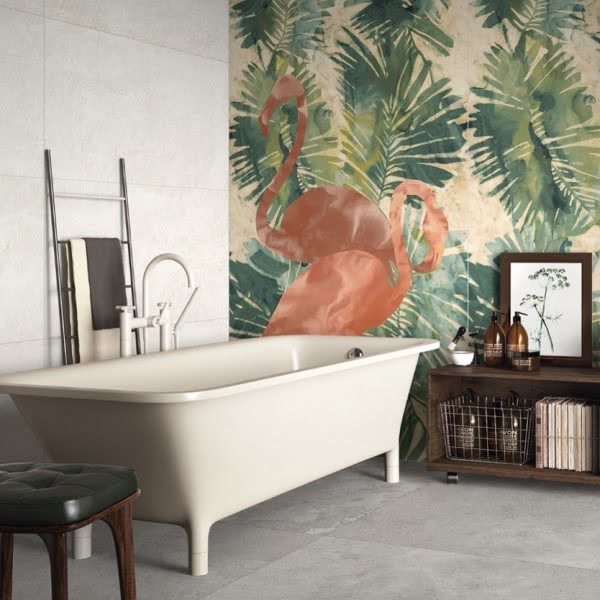 You have to see this bathroom decor idea with mural walls that will turn your bathroom into SPA!