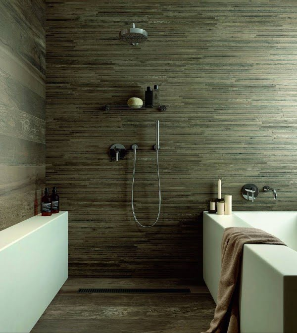 You have to see this bathroom decor idea with wood tile that will turn your bathroom into SPA!