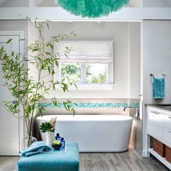 You have to see this bathroom decor idea with greenery that will turn your bathroom into SPA!
