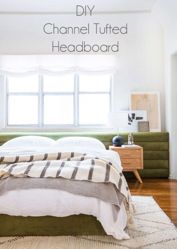 Check out this tutorial on how to make a #DIY channel tufted headboard. Looks easy enough! #BedroomIdeas #HomeDecorIdeas